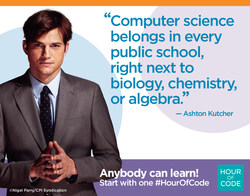 Hour of code - Ashton Kutcher