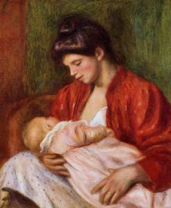 renoir_young-mother-1898_ mama cu fiul _ tablou