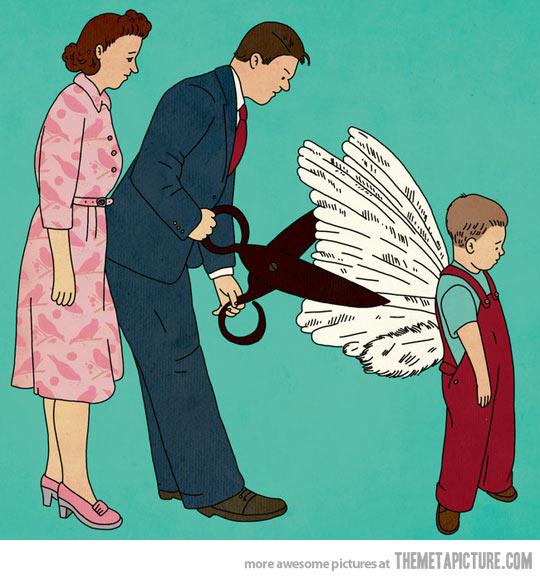 parinti taind aripile copiilor