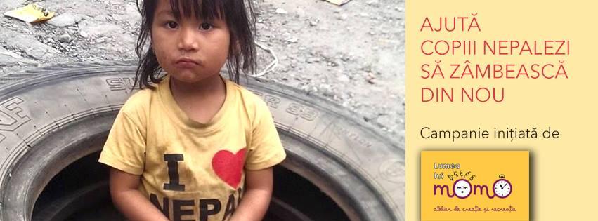 ajuta copiii nepalezi lumea lui Momo