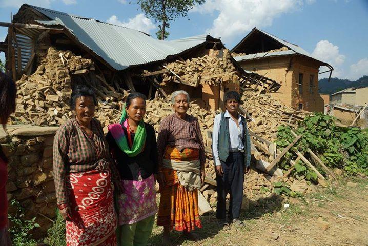 satul Balthali dupa cutremur